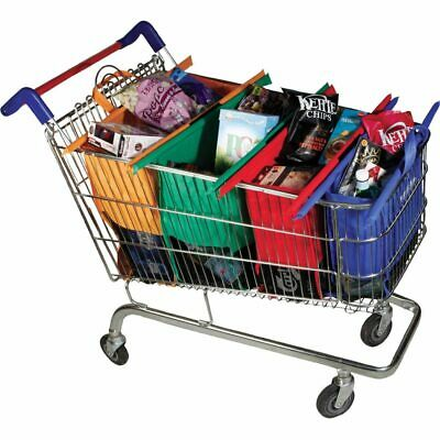Trolley Bags Eco Friendly Reusable Grocery Shopping Bags Set of 4 - 100% Genuine