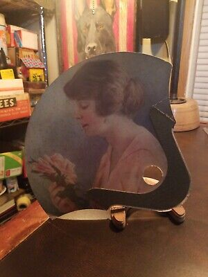 Vintage 1920s Pretty Woman Wilsons Restaurant Fan Ice Cream Drinks Cigars Pool