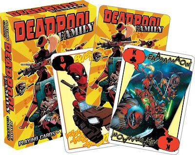 Marvel Deadpool Family Playing Cards by Aquarius - Unique Image for Each Card!