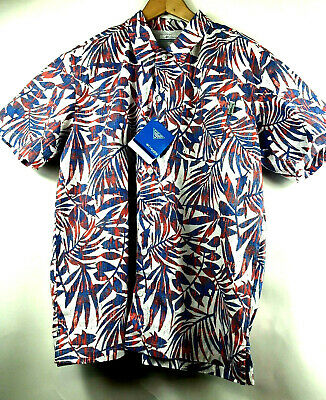 ec269712649 Columbia PFG Trollers Best Short Sleeve Fishing Shirt Leaf Print Mens  Medium $45