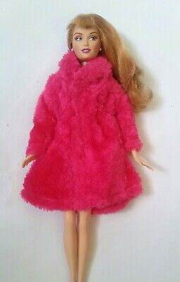 New Barbie fur coat outfit bright pink clothing winter clothes