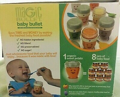 Magic Baby Bullet Complete Food Blender Processor System NEW n Box As Seen on TV