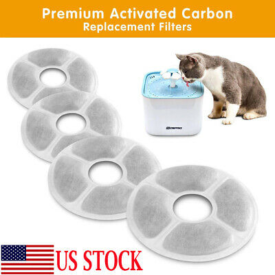 Pet Drinking Fountain Carbon Replace Automatic Water Dispenser Filter Cat Dog
