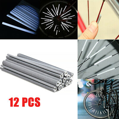 12 x Bicycle Bike Wheel Spoke Reflector Warning DIY Cycling Reflective Clip Tube