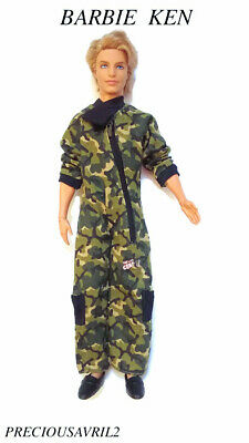 Ken doll clothes barbie outfit MILITARY 1 SET ARMY quality NEW clothing men boys