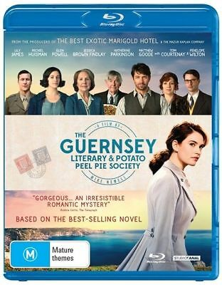 The Guernsey Literary And Potato Peel Society (Blu-ray, 2018) AS NEW
