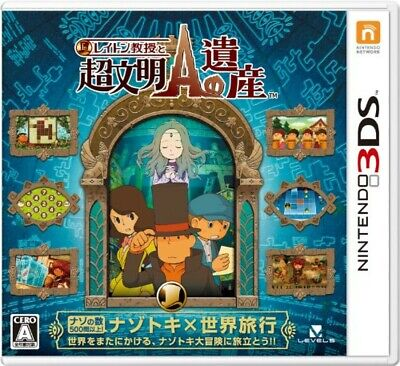 NEW Professor Layton and the legacy of Super Civilization A-3DS Popular Japan