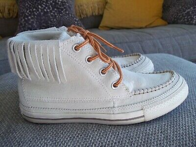 Converse ... All Star Off White Suede Moccasin Style Hi Tops  Sz Uk 6 ... Rare