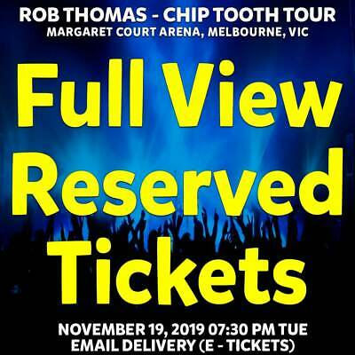 Rob Thomas - Chip Tooth Tour   Melbourne   Full View Reserved Tickets Nov 19 Tue
