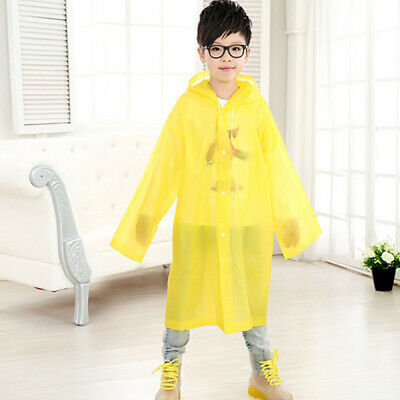 Rainwear Kid's Unisex Age 6~12 Kids Hooded Jacket Rain Poncho Raincoat Cover