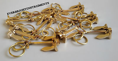 Brass Vintage Antique Marine Nautical Anchor Key Chain Lot Of 50 Pcs Best Gift