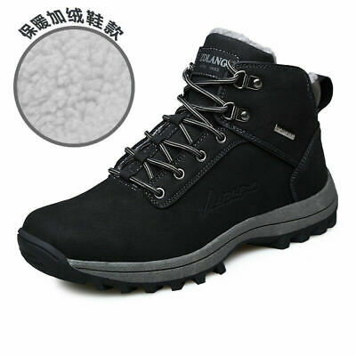 Mens Winter Boots Ankle Warm Snow Boots Outdoor Winter Sneakers Big size
