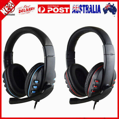 3.5mm Gaming Headset MIC LED Headphones Surround for PC Mac PS4 Xbox One Laptop