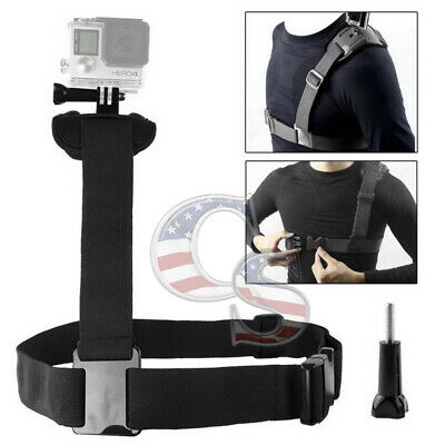 Single Shoulder Strap Mount-Chest Harness Belt Adapter for GoPro Hero 1 2  HGV