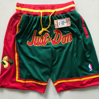 Seattle Supersonics Vintage NBA Basketball Game Shorts Men's NWT Stitched