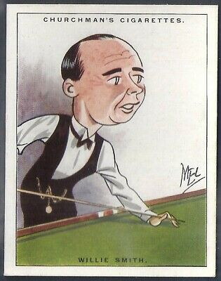 Churchman-Men Of The Moment In Sport (2Nd Large Size)-#03- Snooker - Smith