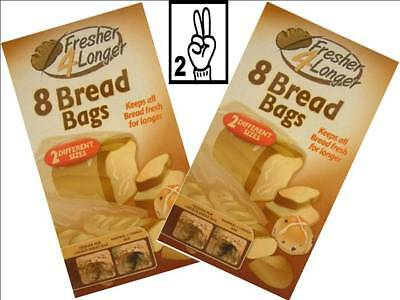Cling Film, Foil & Food Bags Sealapack 16 Bread Bags Keeps Loaf Fresher For Longer Two Sizes Of Bags SAP1041 kitchen cling film