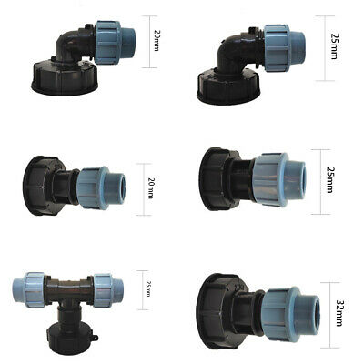 Ibc S60X6 Fittings/Adapter/Water Tank Connector Kit To Barbed Hose Outlet