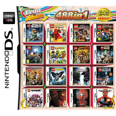488 in 1 Game Card For Nintendo 2DS 3DS New 2DS New 3DS New 2DSLL New 3DSLL