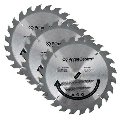 PrimeCables® 6 1/2'' 24T Circular Saw Blade 3Pcs/Pack