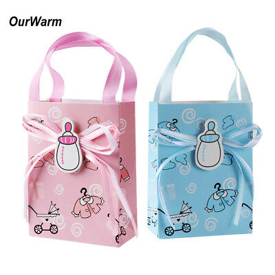 12x Mini Sweet Gift Bags Baby Shower Candy Box Boy Girl Christening Party Favor