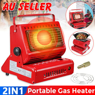2 in 1 Outdoor Camping Butane Gas Heater Warmer Hiking Camp Tent Survival Cooker