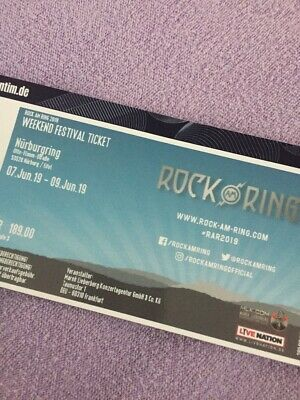 Rock am Ring 2019 - Weekend-Festivalticket 7.-9.06.19