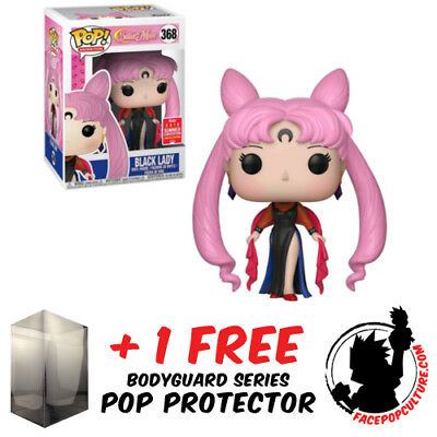 Funko Pop Sailor Moon Black Lady Sdcc 2018 Exclusive + Free Pop Protector