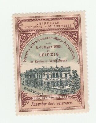 Germany- Leipzig 1898 Spring Fair poster stamp with full gum
