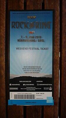 Weekend Festival Ticket - ROCK AM RING 2019 - Nürburgring - 7.-9. Juni 2019
