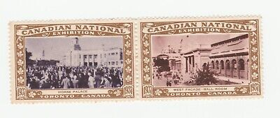 Canada national Exposition 1937- Horse Palace & ball room poster stamp pair