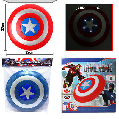 The Avengers Captain America Assemble Shield Cosplay Toy Red Gift 32cm