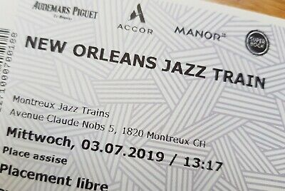 1-2 Tickets for New Orleans Jazz Train MONTREUX Jazz Festival