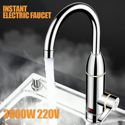 220V 3000W Electric Faucet Tap Hot Water Heater Instant For Home Bathroom Boat