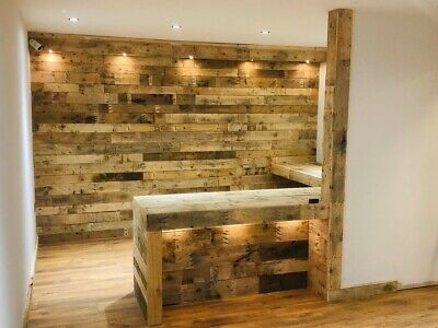 Rustic Wood Wall cladding -  Reclaimed Pallet Wood Cladding - Price per sq.m