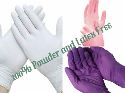 Unigloves Hq Pink/Purple/White Nitrile Powder & Latex Free Disposable Gloves