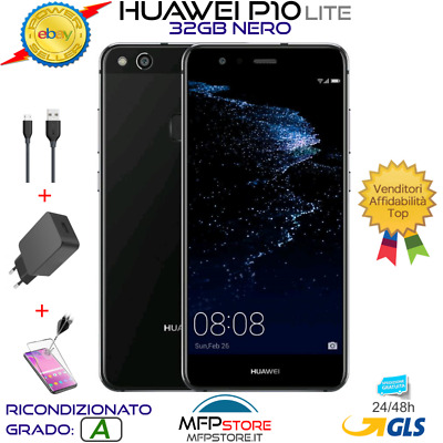 Smartphone Huawei P10 Lite Nero 32Gb Android 5,2'' Ips Lcd Full Hd Octa Core 4