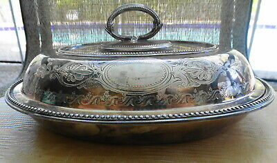 1860's W & G Sissons Goldsmith Alliance Covered Silver Plate Entree Dish Rare UK