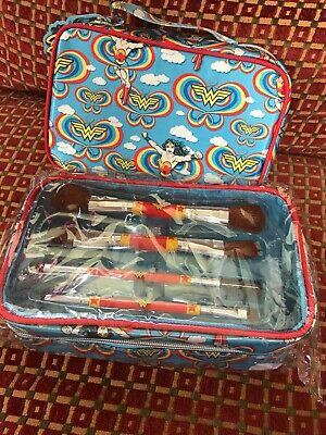 Wonder Woman Double Ended Make up Brush Set with Cosmetic Bag