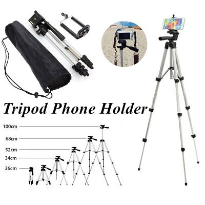 Telescopic Camera Tripod Stand Holder Mount +Carry Bag For Phone iPhone/Nikon KN
