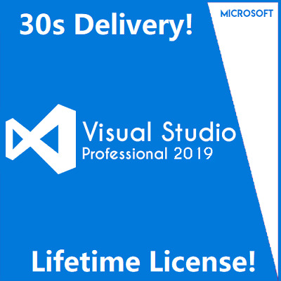 Visual Studio 2019 Professional Unlimited PCs Lifetime License Key 30s Delivery!