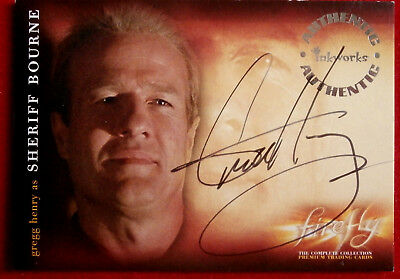 Joss Whedon's FIREFLY - GREGG HENRY - Sheriff Bourne, AUTOGRAPH Card A9 Inkworks