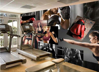 Great Exciting Boxing Full Wall Mural Photo Wallpaper Printing 3D Decor Kid Home
