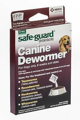 Safe-Guard Canine Dewormer, 3 x 4 g