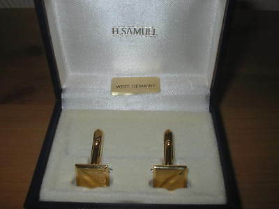 Cuff Links  H.samuel  Made In West Germany Vintage, Gold Colour