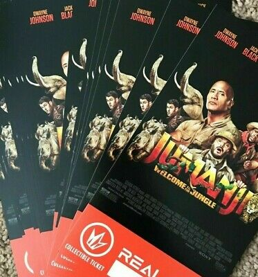 LOT of 50 Jumanji Welcome to the Jungle Regal IMAX 3D Collectible Tickets #1000