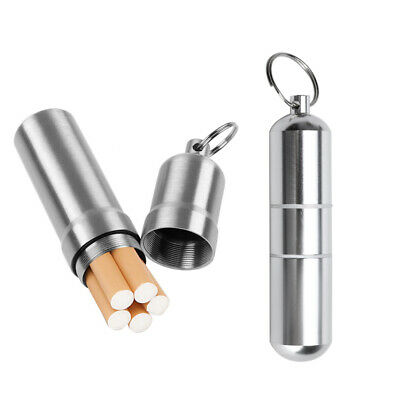 Portable Metal Cigarette Case Men Mini Box Storage Bin Moisture-proof Keychain