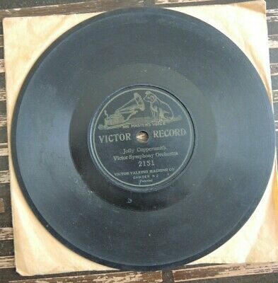 """His Masters Voice """"Victor Record"""" single sided disc, """"Jolly Coppersmith"""""""