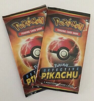 2019 Pokemon Trading Card Game Detective Pikachu Movie 2 Card Pack New Unopened
