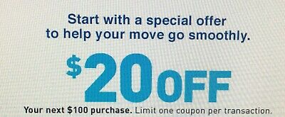 $20 OFF $100 LOWES Coupon - Lowe's In store/online